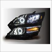 オールカープロダクツ ヴェルファイア LED DOTS イカリング プレミアムカスタムヘッドライト