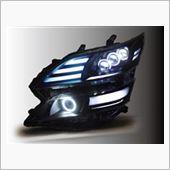 オールカープロダクツ ヴェルファイア ブラストブライトテクノロジー アクリル加工&イカリングカスタマイズ ヘッドライト