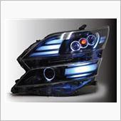 オールカープロダクツ 20系ヴェルファイア RGBマルチカラーコントロール機能搭載 LEDリング+RGBカラーアイヘッドライト