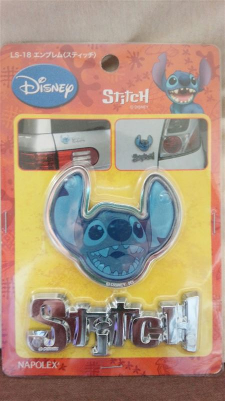 NAPOLEX Disney character car goods collection エンブレム(スティッチ)