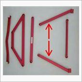 KNIGHT SPORTS リア2ポイントアンダーブレースR&L