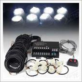 Xtreme 160W 8 HID Bulbs Hide-A-Way Emergency Hazard Warning Strobe Lights