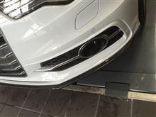S6 アバント (ワゴン)AS SPORT カーボンフロントスポイラーの単体画像