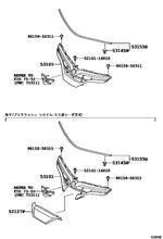 エスティマハイブリッドトヨタ(純正) GRILLE SUB-ASSY, RADIATOR(53101-28492-A0)の全体画像