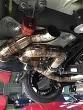 TT ロードスターmotor synchro オリジナルマフラーの全体画像