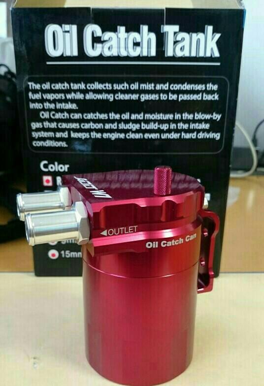 ADD W1 Ver.1 BILLET ALUMINUM- Red Universal oil catch tank