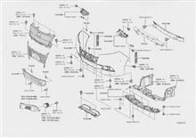 エスクァイアトヨタ自動車 フロントバンパー分解図の単体画像