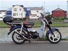 バーディー90HRC HONDA カブ モンキー用カーボンスポーツマフラーの全体画像