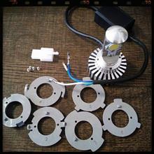 モンスター S2R 1000ノーブランド 輸入車バルブ対応 バイク用 20W 1800ルーメン LED ヘッドライト H4 H4R1 H4BS Hi/Low両面切り替え型の全体画像