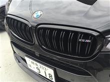 X6MBMW M PERFORMANCE ブラック キドニー グリルの全体画像
