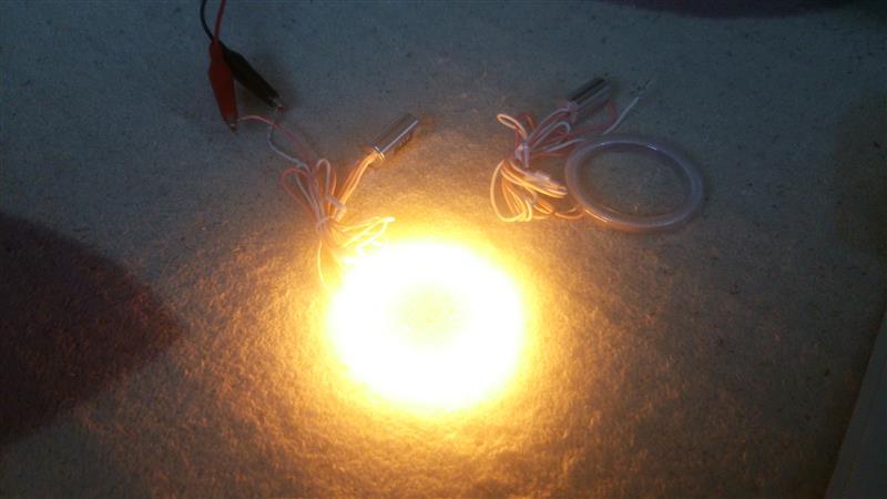 不明 COB LED 60mm イカリングアンバー