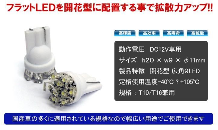 メーカー・ブランド不明 LEDバルブ 開花型 ウェッジ球 T10