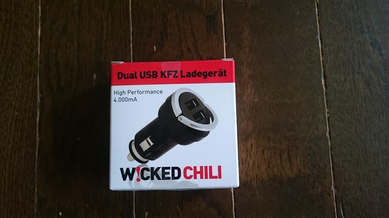 Wicked chili  118 デュアル・ハイスピード USBチャージャー
