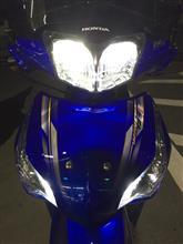 Wave125-i Helm inバイクパーツセンター LEDヘッドライト RAYDの全体画像