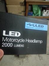RZ50不明 6V~36V対応バイク用 Hi/Lo切り替え型 LEDヘッドライト H4 2000LM 激光強力 3面発光 冷却ファン内蔵の全体画像