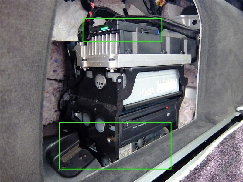 Audi純正 アウディ デジタルテレビチューナー のパーツレビュー A6アバント ワゴン バシケン みんカラ