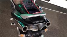 GSR400laser japan xstremeステンレススリップオンマフラーの単体画像