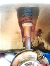 サニートラックピットロード ボルトオン車高調フルkitの全体画像