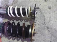 アルファード美沢タイヤ特注加工 HKS&TEIN合体フロント油圧式車高調の単体画像