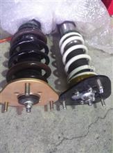 アルファード美沢タイヤ特注加工 HKS&TEIN合体フロント油圧式車高調の全体画像