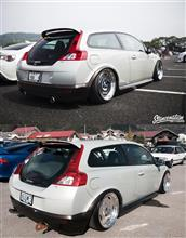 C30OTAS CARS  one off muffler φ50×2 DUALの全体画像