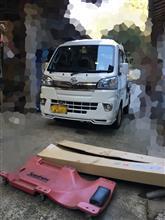 ハイゼットジャンボmag FACTORY 500系ハイゼットトラック リップスポイラーの全体画像