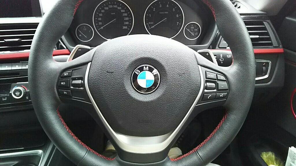 ネグエス BMW ハンドル ロゴ リング カバー / ソーラー LEDキーホルダー 2点セット (レッド / 赤) [並行輸入品]