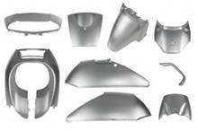 リード100リード50/100 【AF48/JF06】  外装カウルセット 9点 銀 の単体画像
