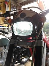 TX ランドネe-auto fun バイク用LEDヘッドライト Hi/Lo切替タイプの全体画像