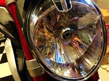 ブルターレ800ドラッグスターe-auto fun バイク用LEDヘッドライト ホワイト H4 HS1 12V40Wの全体画像
