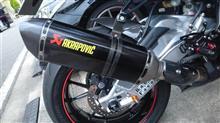 S1000RRAKRAPOVIC Slip-on exhust systemの全体画像