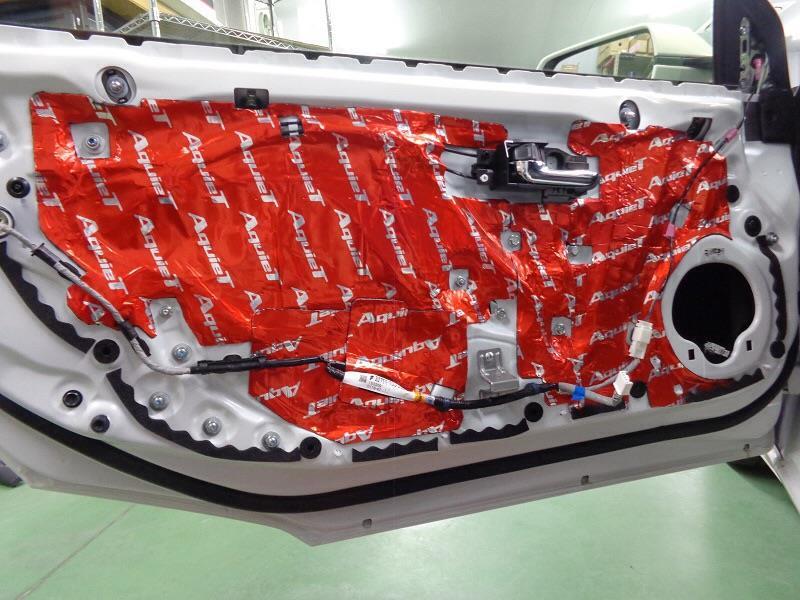 AQUA S660専用 フロントドアデッドニングキット 高比重タイプ