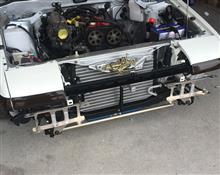 スプリンタートレノオートガレージロフト 軽量アルミフロントバンパーステーの単体画像