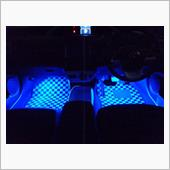 AQUA プリウス50系 フットランプ運転席・助手席セット ブルー・ホワイト2色タイプ