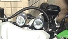 KLX125中華製 LEDプロジェクターライトの単体画像
