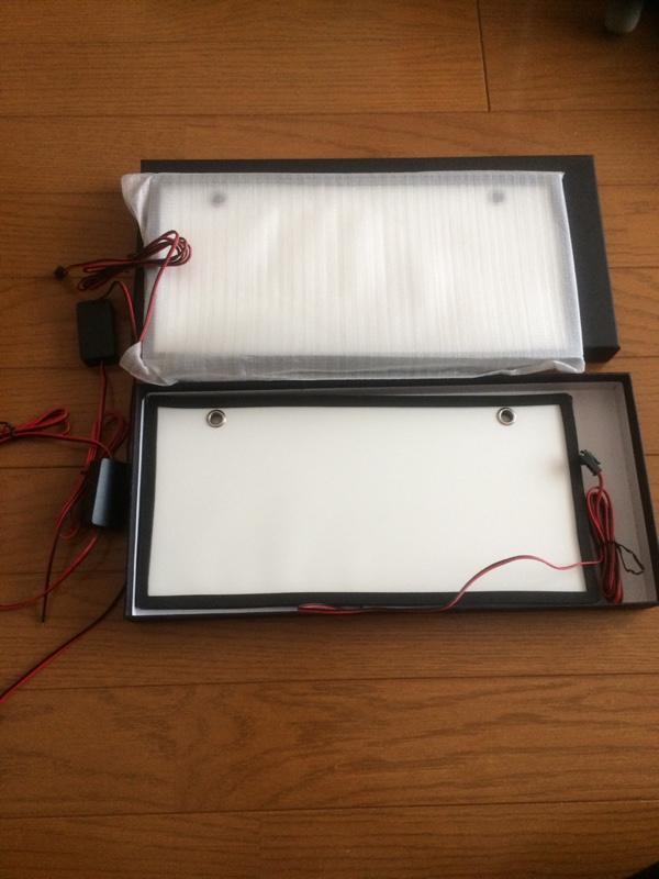REIZ TRADING LEDアクリルナンバーフレーム