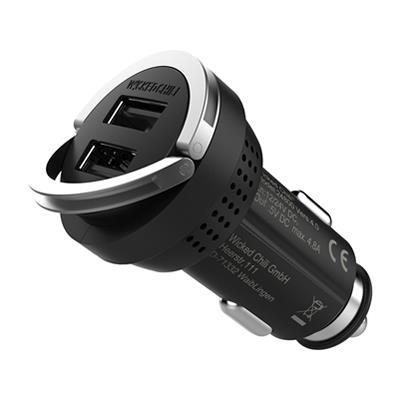 Wicked Chili (ウィケッドチリ) 4800mA ターボID機能搭載 デュアル・ハイスピード USBチャージャー (Apple 用)