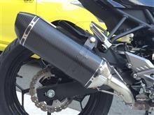 Ninja250SLLCI PARTS LCIスリップオンマフラー ヘキサゴンカーボンエンドの単体画像
