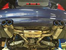B3 S BiTurbo リムジンPower Craft ハイブリッドエキゾーストマフラーシステムの単体画像