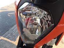 125DukeGTX 雷神の鎚   LEDヘッドライトの全体画像