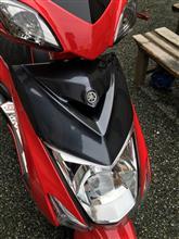 シグナスX SRCROSS DOCK ブラックカーボン フロントパネルの全体画像
