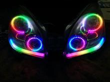 ラクティス自作 ワンオフ Neo Pixel LED ヘッドライトの単体画像
