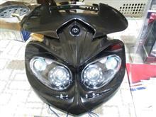エイプ50 タイプDライズコーポレーション 汎用LEDイーグルアイヘッドライトの単体画像