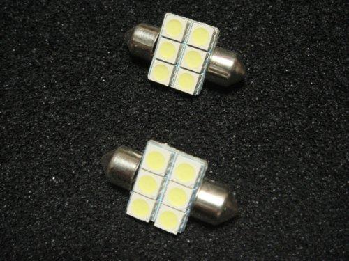 KOGES T10-31mm 白色3x6SMD2個セット