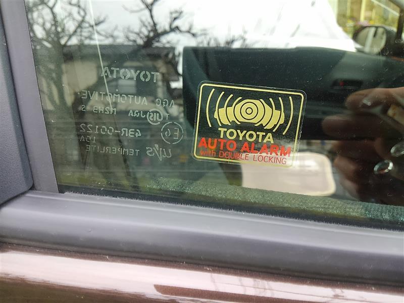 トヨタ(純正) オートアラームステッカー/セフトウォーニングプレート
