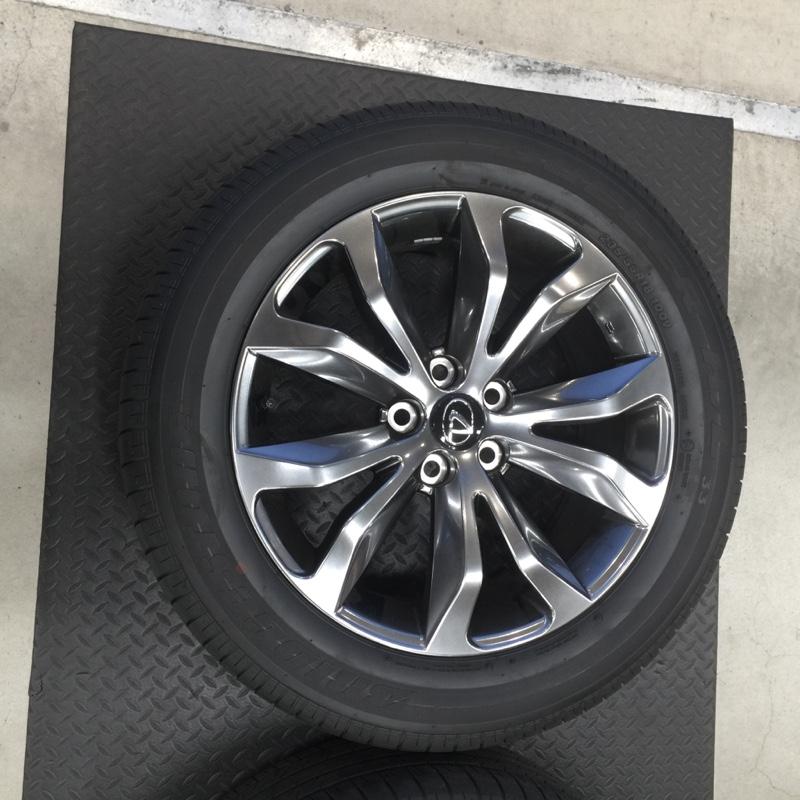 """レクサス(純正) 235/55R18 Bridgestone DUELER H/L33 & """"F SPORT""""専用アルミホイール"""