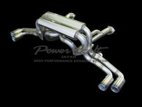 Power Craft ワンオフ マットブラックテール ハイブリッドエキゾーストマフラーシステム