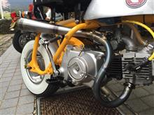 モンキー Z50Jスペシャルワーク FORG A&Zリジッドモンキー専用 クロスアップツイストマフラーの全体画像