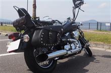 ドラッグスター250DAYTONA(バイク) スリップオンマフラー スラッシュカットの単体画像