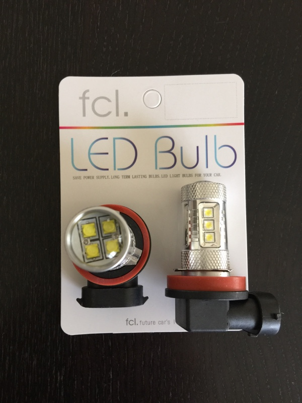 fcl LED フォグ ランプ 80W 16連 ホワイト 2個セット H8